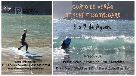 Curso de Verão de Surf e Bodyboard